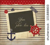 nautical vintage card ... | Shutterstock .eps vector #101888803