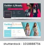 set of vector covers for social ... | Shutterstock .eps vector #1018888756