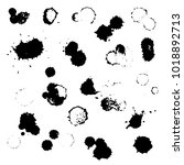 grunge vector set of ink... | Shutterstock .eps vector #1018892713