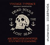 original hand drawn typeface... | Shutterstock .eps vector #1018896406