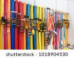 ratchet tie down.ratchet strap... | Shutterstock . vector #1018904530