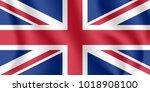 flag of united kingdom.... | Shutterstock .eps vector #1018908100