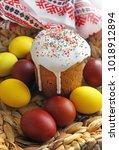 celebratory sweet easter... | Shutterstock . vector #1018912894