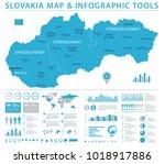 slovakia map   detailed info... | Shutterstock .eps vector #1018917886