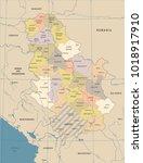 serbia map   vintage high... | Shutterstock .eps vector #1018917910
