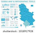 serbia map   detailed info... | Shutterstock .eps vector #1018917928