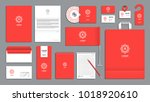 corporate identity branding... | Shutterstock .eps vector #1018920610