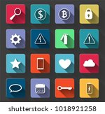 warning signs and social icons... | Shutterstock .eps vector #1018921258