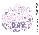 beautiful card design for happy ... | Shutterstock .eps vector #1018925380
