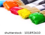 close up of colorful paint and... | Shutterstock . vector #101892610