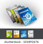 four magazine cover layout... | Shutterstock .eps vector #101892676