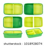 epmty lunch box isolated on... | Shutterstock . vector #1018928074