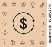 dollar recycle icon  web design ... | Shutterstock .eps vector #1018929070