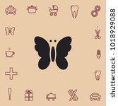 butterfly icon  vector design... | Shutterstock .eps vector #1018929088