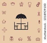 summer bower icon  vector design | Shutterstock .eps vector #1018929100