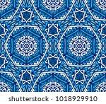 vector ornamental geometric... | Shutterstock .eps vector #1018929910