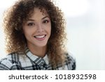 portrait of a beautiful young... | Shutterstock . vector #1018932598
