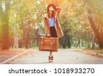 young redhead woman with... | Shutterstock . vector #1018933270