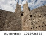 the walls of the old fortress... | Shutterstock . vector #1018936588