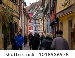 colmar  france   january 05 ... | Shutterstock . vector #1018936978