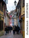 colmar  france   january 05 ... | Shutterstock . vector #1018936984