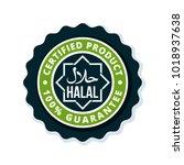 halal label illustration   Shutterstock .eps vector #1018937638