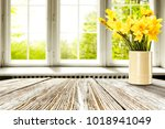easter table background of free ... | Shutterstock . vector #1018941049