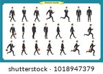 collection set of walking and... | Shutterstock .eps vector #1018947379
