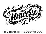 universe lettering. hand drawn... | Shutterstock .eps vector #1018948090