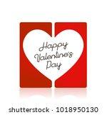 valentine's day concept... | Shutterstock .eps vector #1018950130