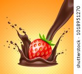 realistic detailed strawberry... | Shutterstock .eps vector #1018951270