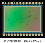 dirt and dust on digital camera ... | Shutterstock .eps vector #1018959178