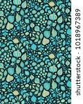 turquoise   golden seamless... | Shutterstock .eps vector #1018967389