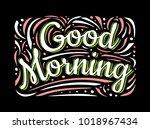 food poster print lettering.... | Shutterstock .eps vector #1018967434