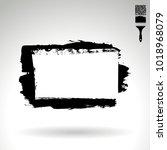 black brush stroke and texture. ... | Shutterstock .eps vector #1018968079