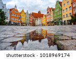 traditional colorful gothic... | Shutterstock . vector #1018969174