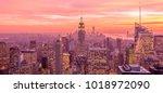 view of new york manhattan...   Shutterstock . vector #1018972090