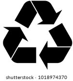black recycle icon on white... | Shutterstock .eps vector #1018974370