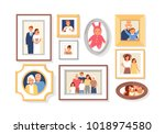 collection of photos of family... | Shutterstock .eps vector #1018974580