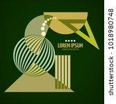 abstract geometric modern... | Shutterstock .eps vector #1018980748