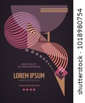 abstract geometric modern... | Shutterstock .eps vector #1018980754