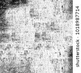 grunge texture black and white. ... | Shutterstock . vector #1018987714