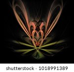 abstract spectacular fractal... | Shutterstock . vector #1018991389