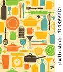 seamless kitchen pattern....   Shutterstock .eps vector #101899210
