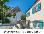 view of pastel coloured houses...   Shutterstock . vector #1018994350