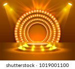 stage podium with lighting ... | Shutterstock .eps vector #1019001100