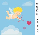vector illustration of flying...   Shutterstock .eps vector #1019001799