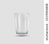 realistic empty glossy glass.... | Shutterstock .eps vector #1019004808