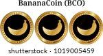 set of physical golden coin... | Shutterstock .eps vector #1019005459