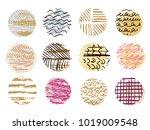 big set of vector handdrawn ...   Shutterstock .eps vector #1019009548